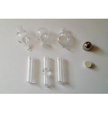 Lot de 6 pendentifs grand modèle en verre à remplir