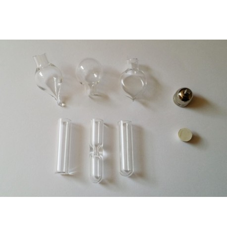 Lot de 6 pendentif grand modèle en verre à remplir
