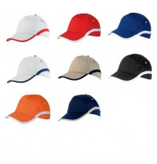 "Casquette ""Line"" orange/blanc"