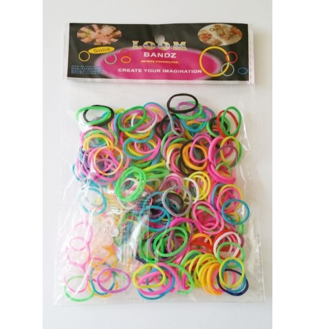 Lot de 300 bagues Loom Band