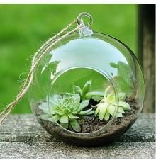 Suspension de décoration globe en verre