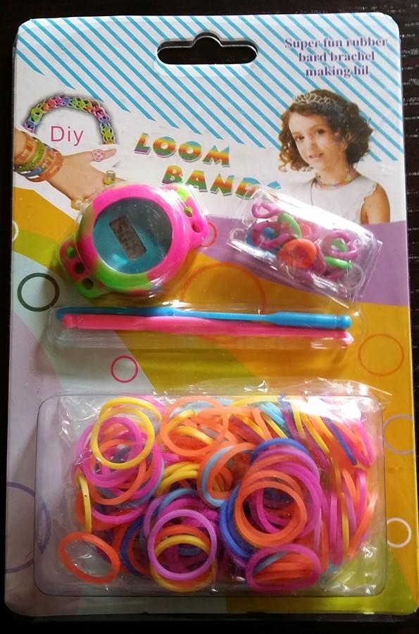 Montre bicolore Loom Bands petit cadran