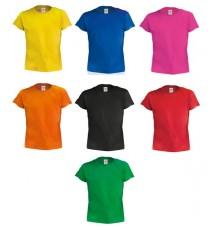 T-Shirt Enfant Couleur Hecom de Couleurs Différentes