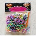 300 élastiques bicolores Loom Bands
