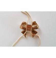 Collier avec pendentif nœud à strass réglable