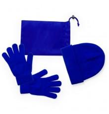 "Set ""Duvel"" avec Bonnet Gants et Housse Bleu"