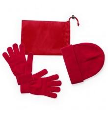"""Set """"Duvel"""" avec Bonnet Gants et Housse Rouge"""