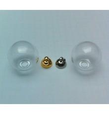 Pendentif globe en verre à remplir 16mm