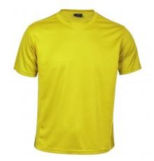 "T-shirt adulte ""Tecnic Rox"" jaune"