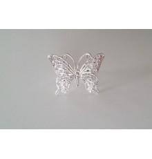 Bague papillon argenté