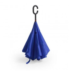 """Parapluie réversible """"Hamfrey"""" bleu"""