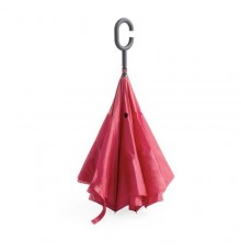 """Parapluie réversible """"Hamfrey"""" rouge"""