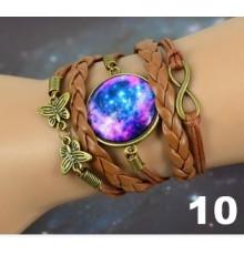 Bracelet globe galaxy