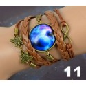 Bracelets globe galaxy