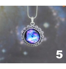 Collier cobochon galaxie