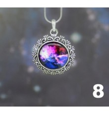 Collier cobochon galaxy