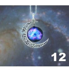 Collier lune  galaxie