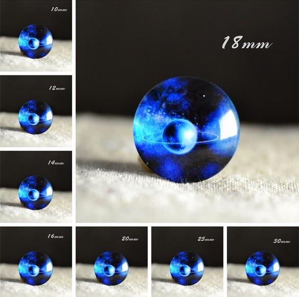Cabochon en verre galaxie Neptune