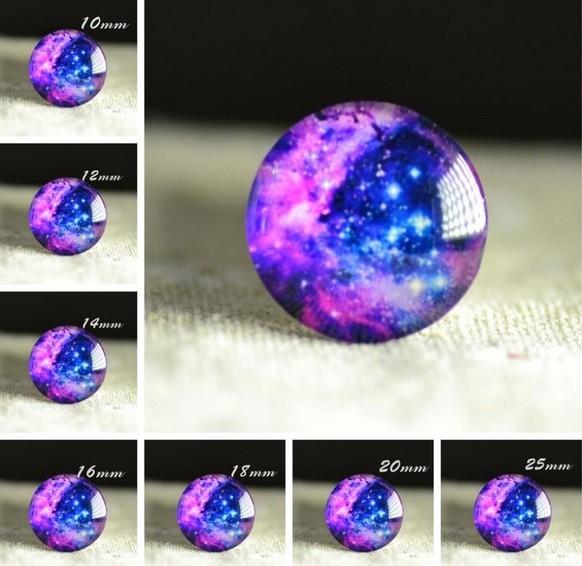 Cabochon en verre galaxie Constellation