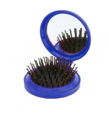 Brosse avec Miroir Glance Bleu