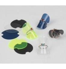 Présentoir disque en plastique pour bague
