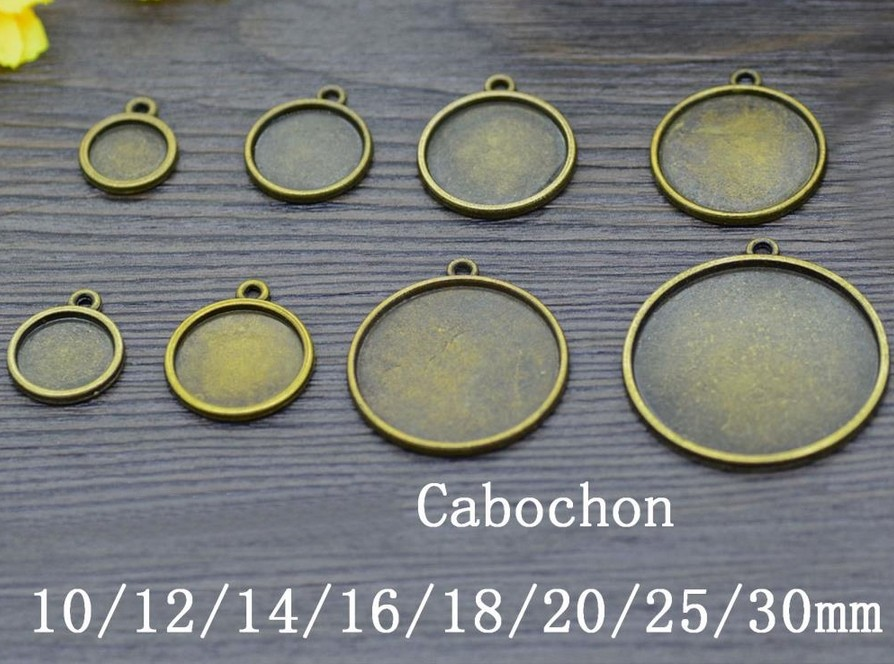 Support cabochon couleur bronze