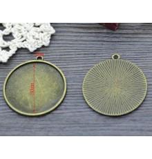 Support cabochon couleur bronze