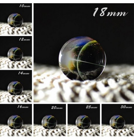 Cabochon en verre galaxie alignement