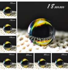 Cabochon en verre galaxie Double Eclipse