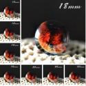 Cabochon en verre galaxie mars