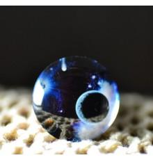 Cabochon en verre cosmos