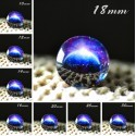 Cabochon en verre galaxie eclipse bleu