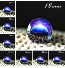 Cabochon en verre galaxie Eclipse Bleue