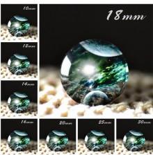 Cabochon en verre galaxie Planete Verte