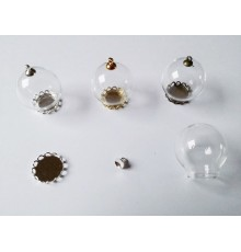 Grand modèle de pendentif globe en verre à remplir