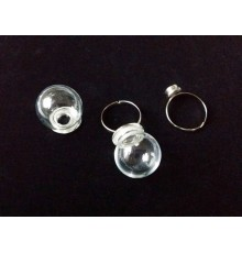 Bague bulle en verre réutilisable à visser