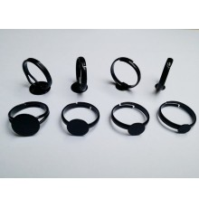Support de bague noir pour bijoux en verre et cabochons