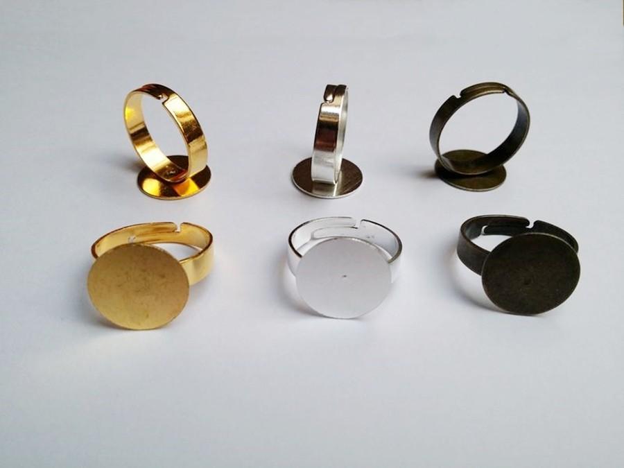 Support de bague simple pour bijoux en verre et cabochons