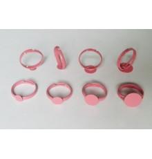 Support de bague rose pour bijoux en verre et cabochons