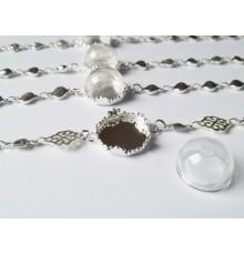 Bracelet avec support et demi globe en verre à remplir