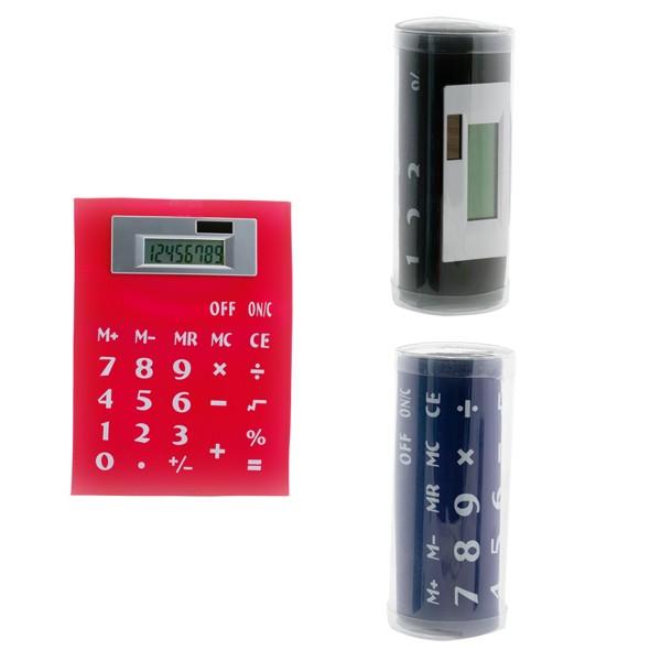 """Calculatrice Souple """"Roll Up"""" Magnétique en PVC"""