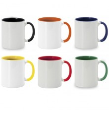"""Tasse sublimation """"Harnet"""" de coloris différents"""