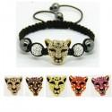 Connecteur tête de léopard pour bijoux