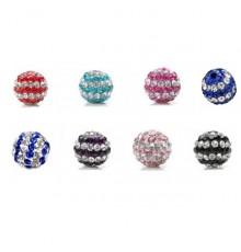 Perles Strass Rayées pour Bijoux