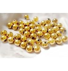 Perles hématite or