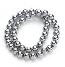 Perles hématite argent