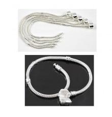 Bracelets Fermoir à Chaînes Serpent
