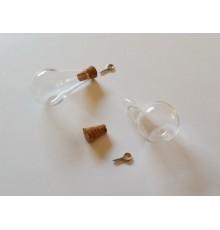 Pendentif goutte en verre à garnir