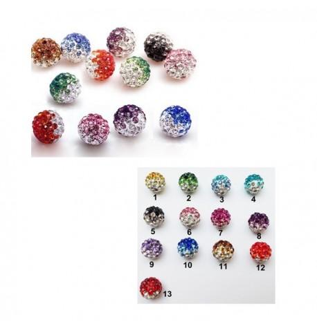 Perles Shamballa Dégradé de Couleurs 10 mm