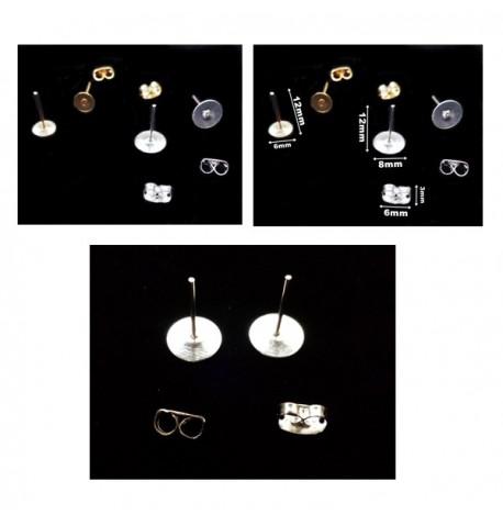 Support Boucles d'Oreilles Clou pour Bijoux en Verre